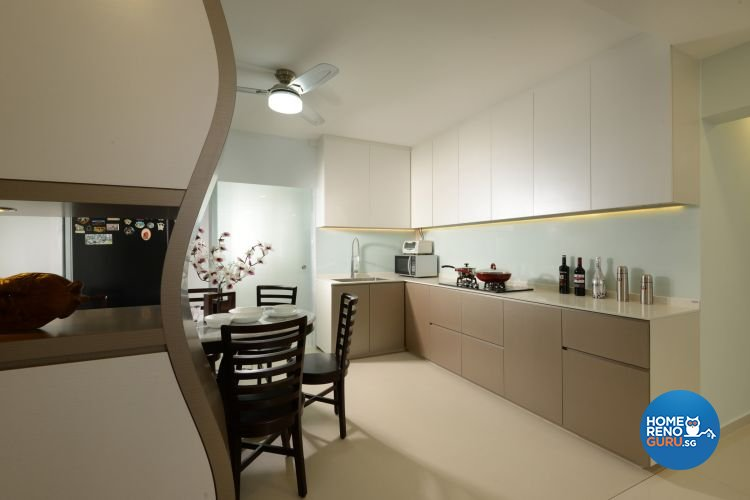 Minimalist, Modern Design - Kitchen - HDB 4 Room - Design by 96 Degree Designers