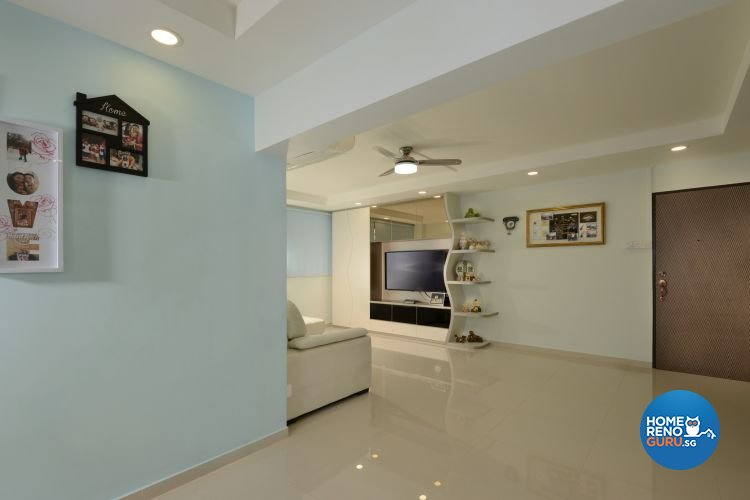Minimalist, Modern Design - Living Room - HDB 4 Room - Design by 96 Degree Designers