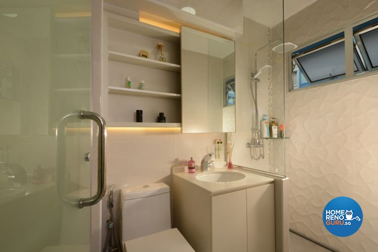 Minimalist, Modern Design - Bathroom - HDB 4 Room - Design by 96 Degree Designers