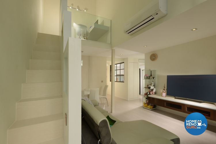 Minimalist, Modern Design - Living Room - HDB Executive Apartment - Design by 96 Degree Designers