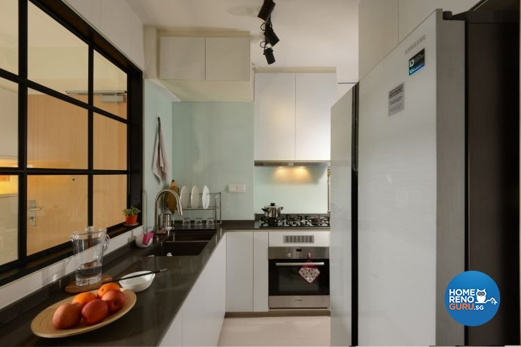 Minimalist, Modern Design - Kitchen - HDB Executive Apartment - Design by 96 Degree Designers