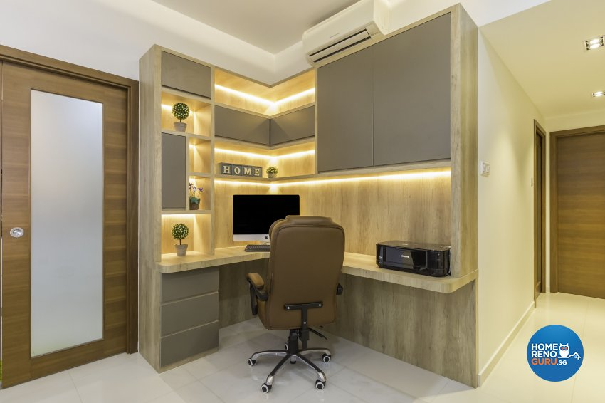 Modern Design - Study Room - Condominium - Design by 96 Degree Designers