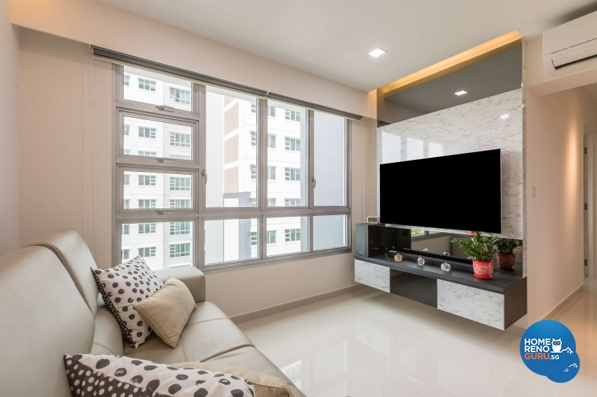 Contemporary, Modern Design - Living Room - HDB 3 Room - Design by 96 Degree Designers