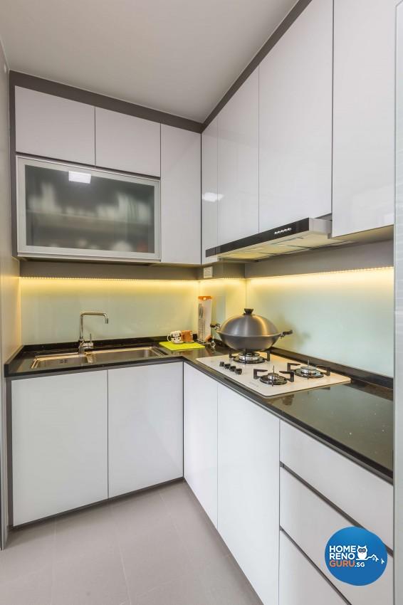 Contemporary, Modern Design - Kitchen - HDB 3 Room - Design by 96 Degree Designers
