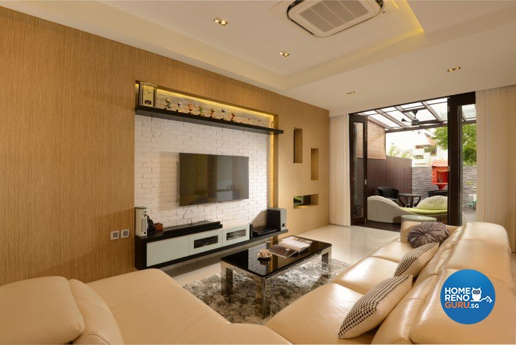 Contemporary, Modern, Resort Design - Living Room - Landed House - Design by 96 Degree Designers