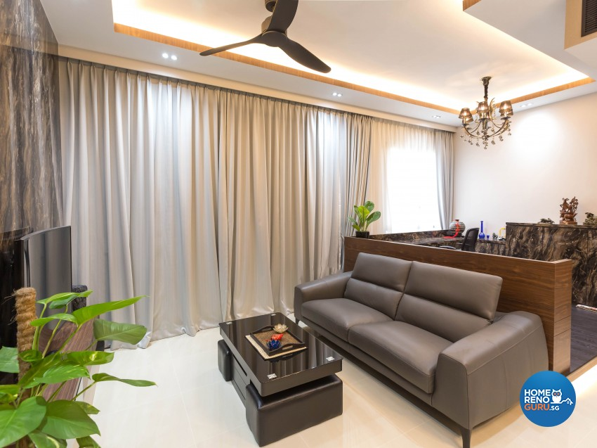 Modern Design - Living Room - Condominium - Design by 96 Degree Designers