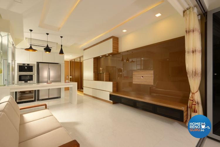 Modern, Scandinavian Design - Living Room - Condominium - Design by 96 Degree Designers