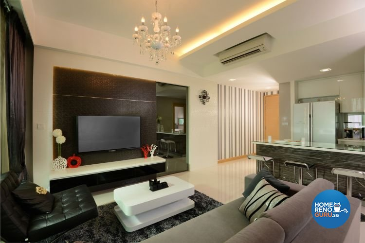 Minimalist, Modern Design - Living Room - Condominium - Design by 96 Degree Designers