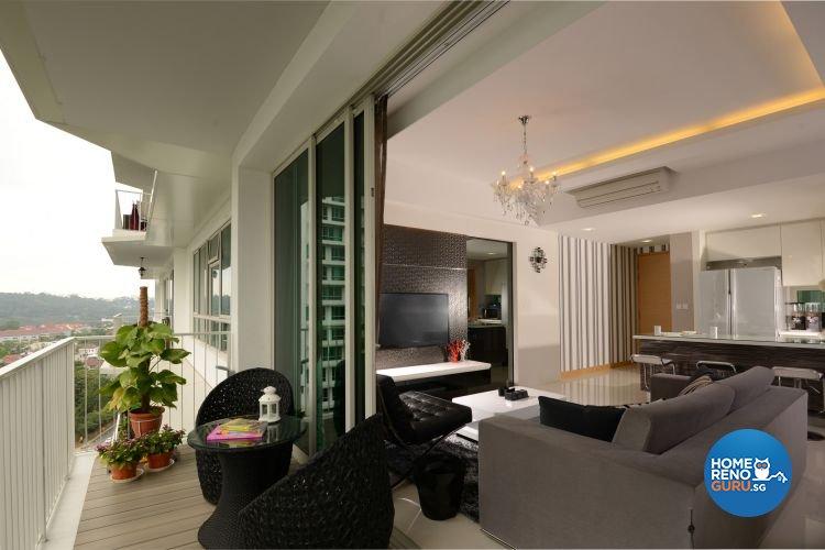 Singapore interior design gallery design details for Condo balcony ideas singapore