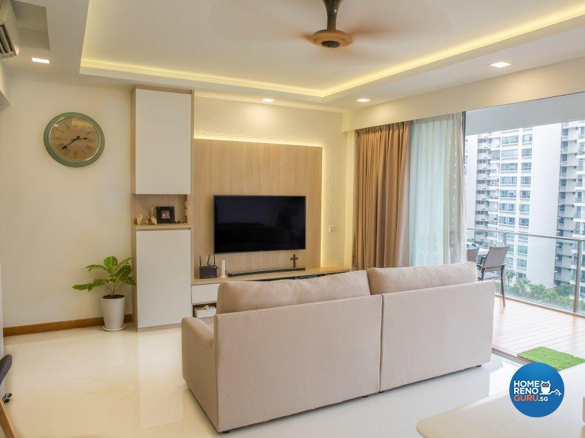 Modern Design - Living Room - Condominium - Design by 96 Degree Designers