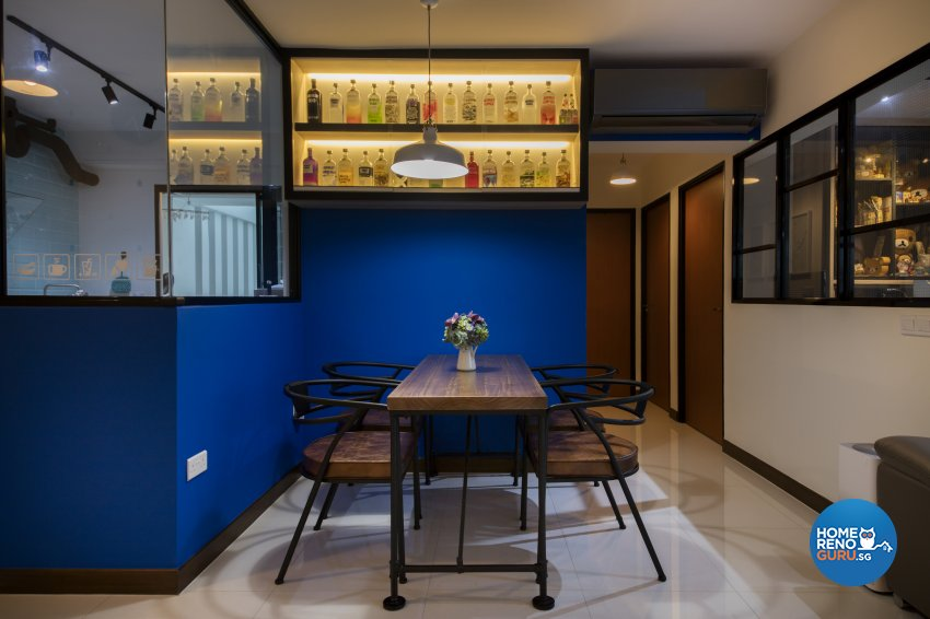 Rustic Design - Dining Room - HDB 4 Room - Design by Aartboxx Interior