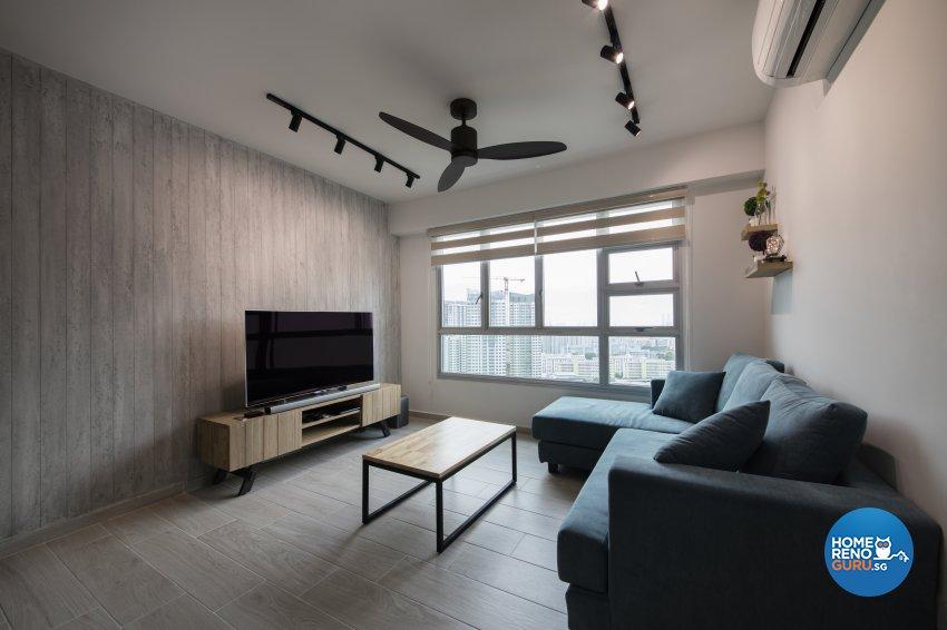 Scandinavian Design - Living Room - HDB 4 Room - Design by Aartboxx Interior