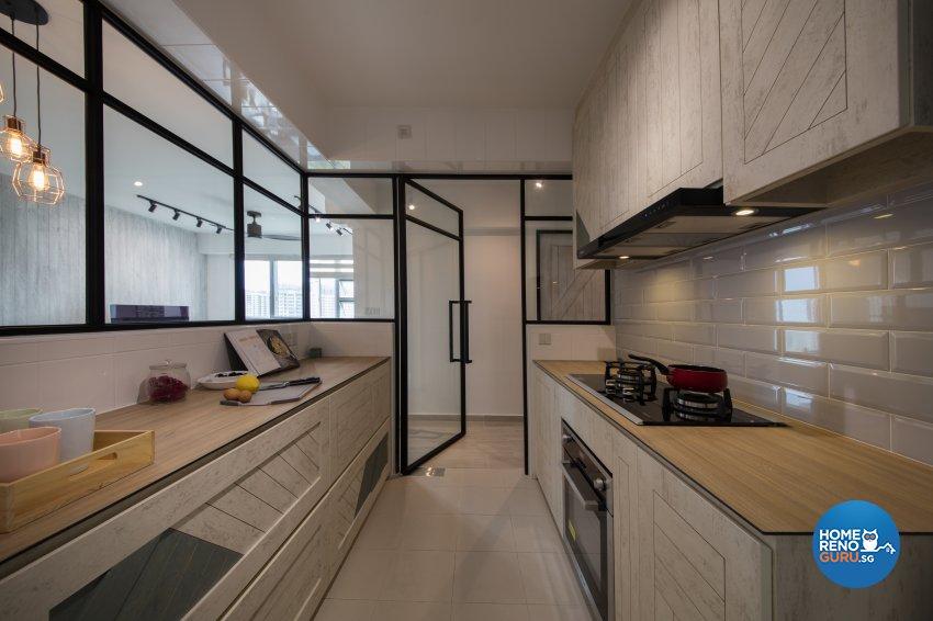 Scandinavian Design - Kitchen - HDB 4 Room - Design by Aartboxx Interior