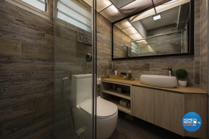 Scandinavian Design - Bathroom - HDB 4 Room - Design by Aartboxx Interior