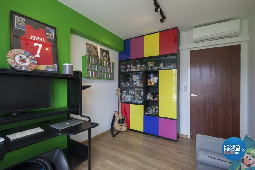 Eclectic Design - Study Room - HDB 5 Room - Design by Aartboxx Interior