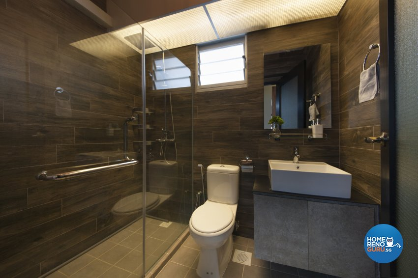 Industrial, Rustic Design - Bathroom - HDB 4 Room - Design by Aartboxx Interior