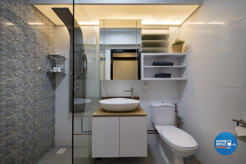 Industrial, Rustic Design - Bathroom - HDB 5 Room - Design by Aartboxx Interior
