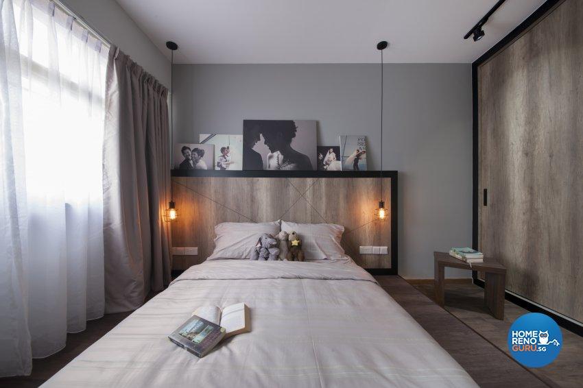 Industrial, Rustic Design - Bedroom - HDB 5 Room - Design by Aartboxx Interior