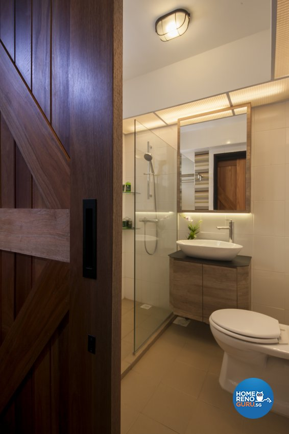 Industrial, Rustic Design - Bathroom - HDB 5 Room - Design by Aartboxx Interior