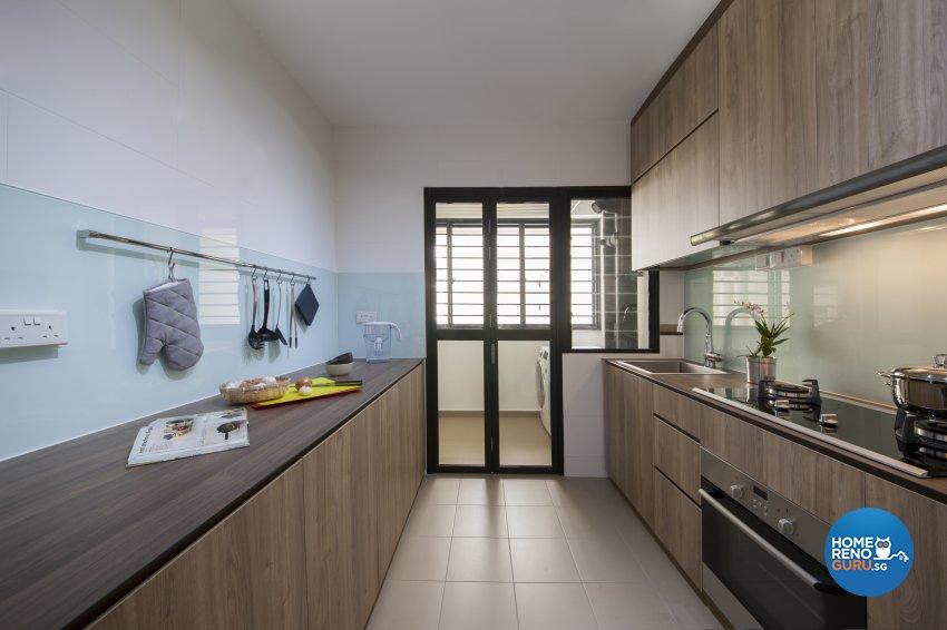Industrial, Rustic Design - Kitchen - HDB 5 Room - Design by Aartboxx Interior