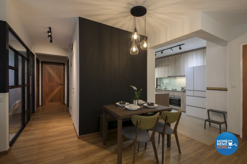 Industrial, Rustic Design - Dining Room - HDB 5 Room - Design by Aartboxx Interior