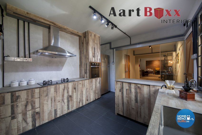Industrial, Rustic Design - Kitchen - HDB 5 Room - Design by Aartboxx Interior