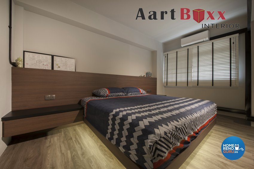 Industrial, Rustic Design - Bedroom - HDB 5 Room - Design by Aartboxx Interior