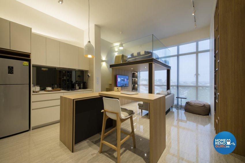 Contemporary Design - Dining Room - Condominium - Design by Aartboxx Interior