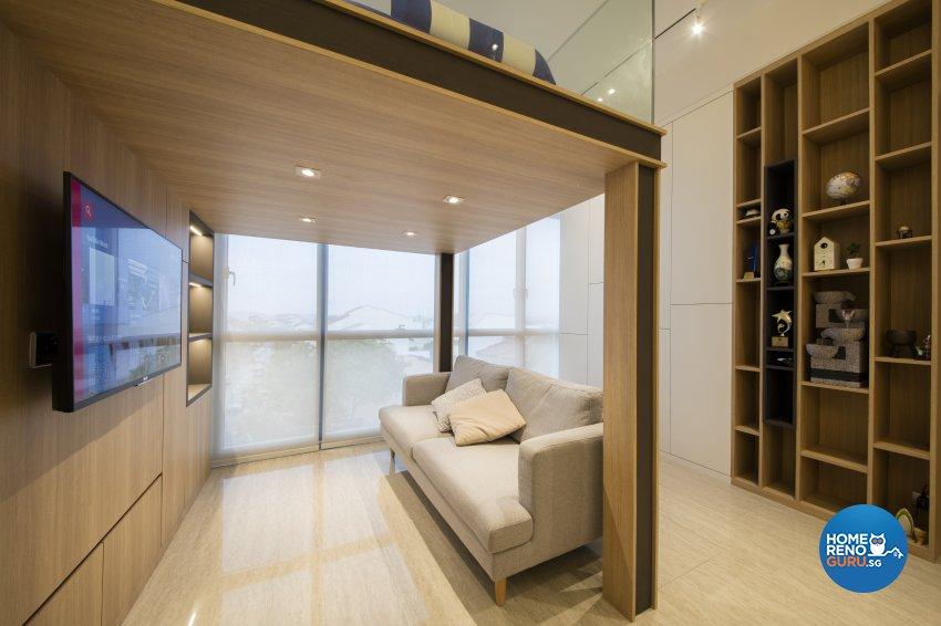 Contemporary Design - Living Room - Condominium - Design by Aartboxx Interior