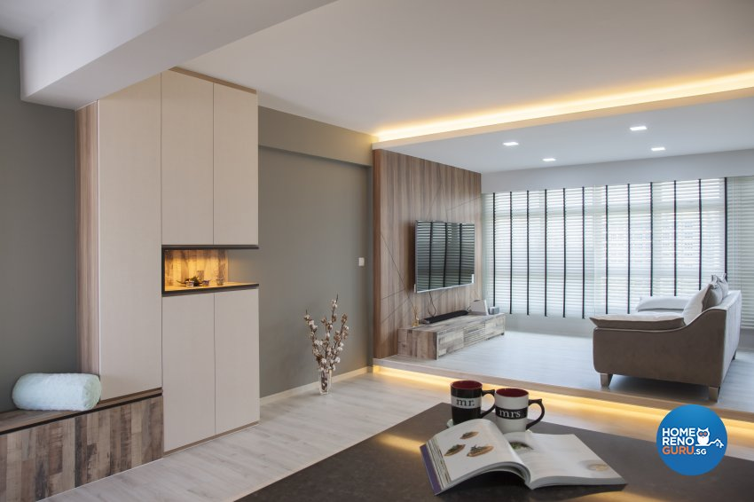 Contemporary, Modern Design - Living Room - HDB 5 Room - Design by Aartboxx Interior