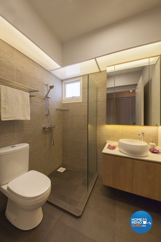 Contemporary, Modern Design - Bathroom - HDB 5 Room - Design by Aartboxx Interior