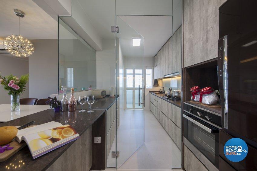 Contemporary, Modern Design - Kitchen - HDB 5 Room - Design by Aartboxx Interior