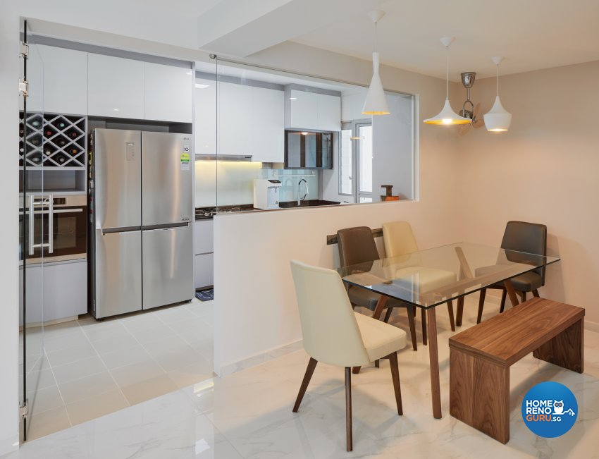 Contemporary, Modern Design - Dining Room - HDB 5 Room - Design by Absolook Interior Design Pte Ltd