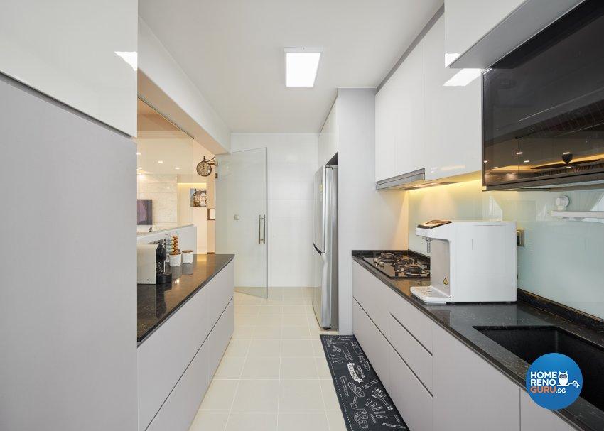 Contemporary, Modern Design - Kitchen - HDB 5 Room - Design by Absolook Interior Design Pte Ltd