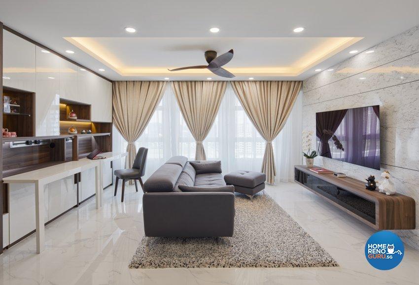 Contemporary, Modern Design - Study Room - HDB 5 Room - Design by Absolook Interior Design Pte Ltd