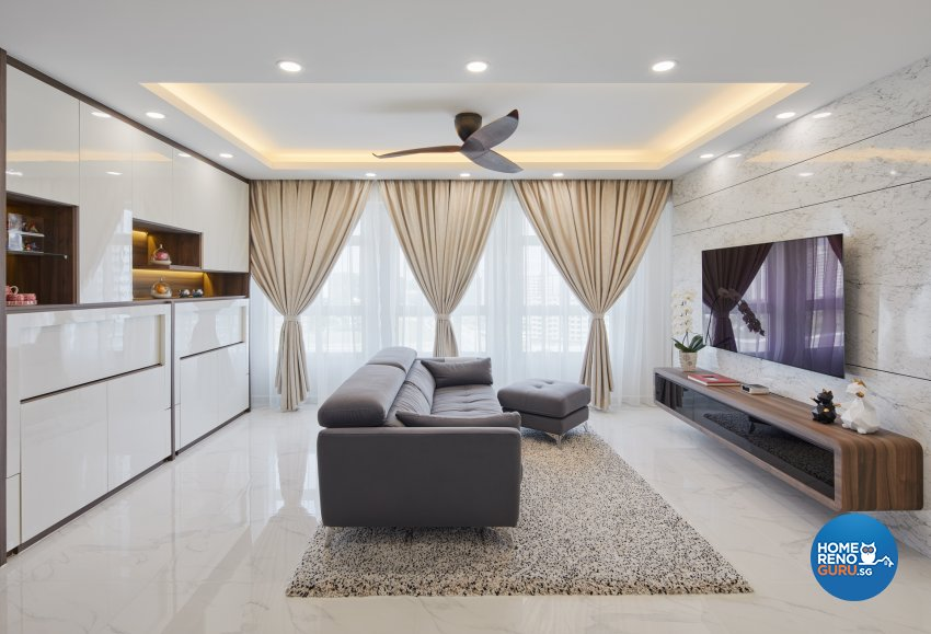 Contemporary, Modern Design - Living Room - HDB 5 Room - Design by Absolook Interior Design Pte Ltd