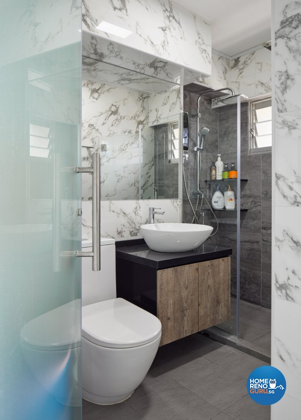 Contemporary, Scandinavian Design - Bathroom - HDB Executive Apartment - Design by Absolook Interior Design Pte Ltd