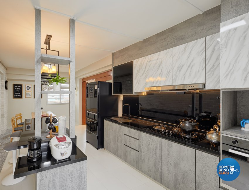 Contemporary, Scandinavian Design - Kitchen - HDB Executive Apartment - Design by Absolook Interior Design Pte Ltd