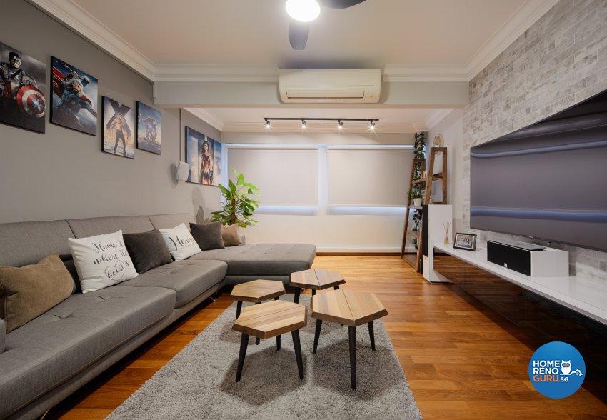 Contemporary, Scandinavian Design - Entertainment Room - HDB Executive Apartment - Design by Absolook Interior Design Pte Ltd