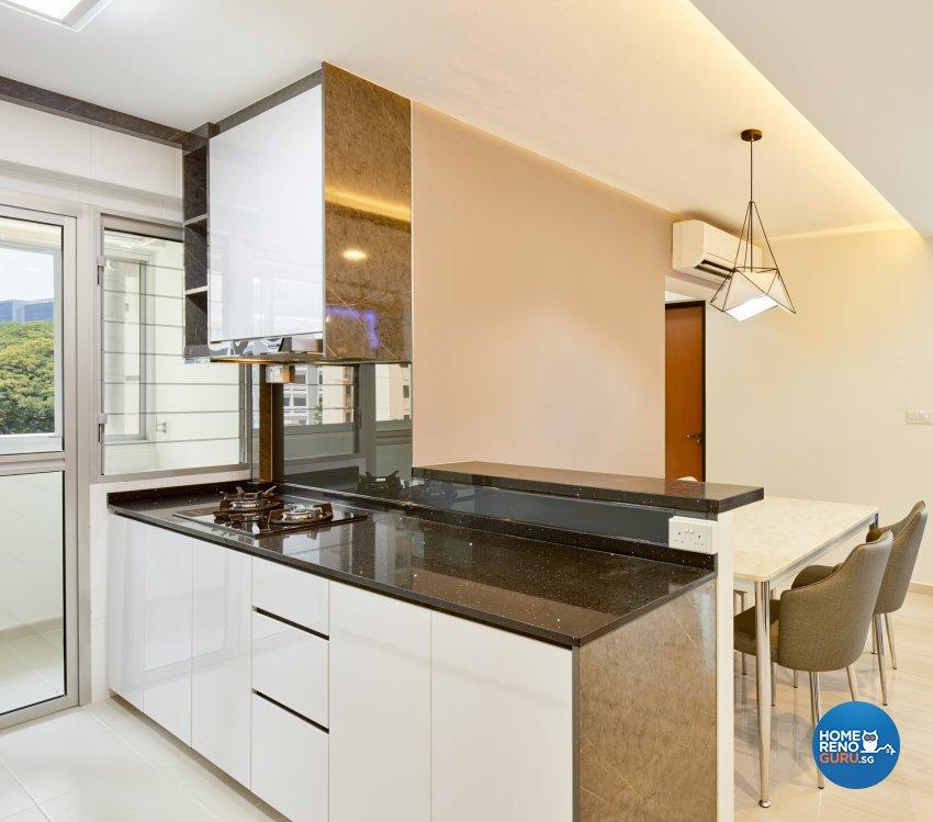 Contemporary, Modern Design - Kitchen - HDB 4 Room - Design by Absolook Interior Design Pte Ltd