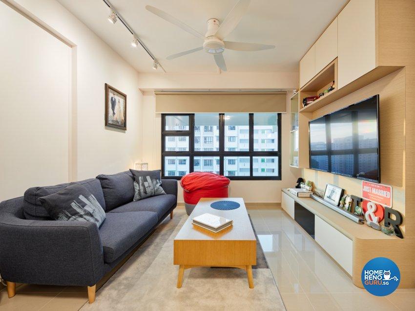 Contemporary, Scandinavian Design - Living Room - HDB 4 Room - Design by Absolook Interior Design Pte Ltd