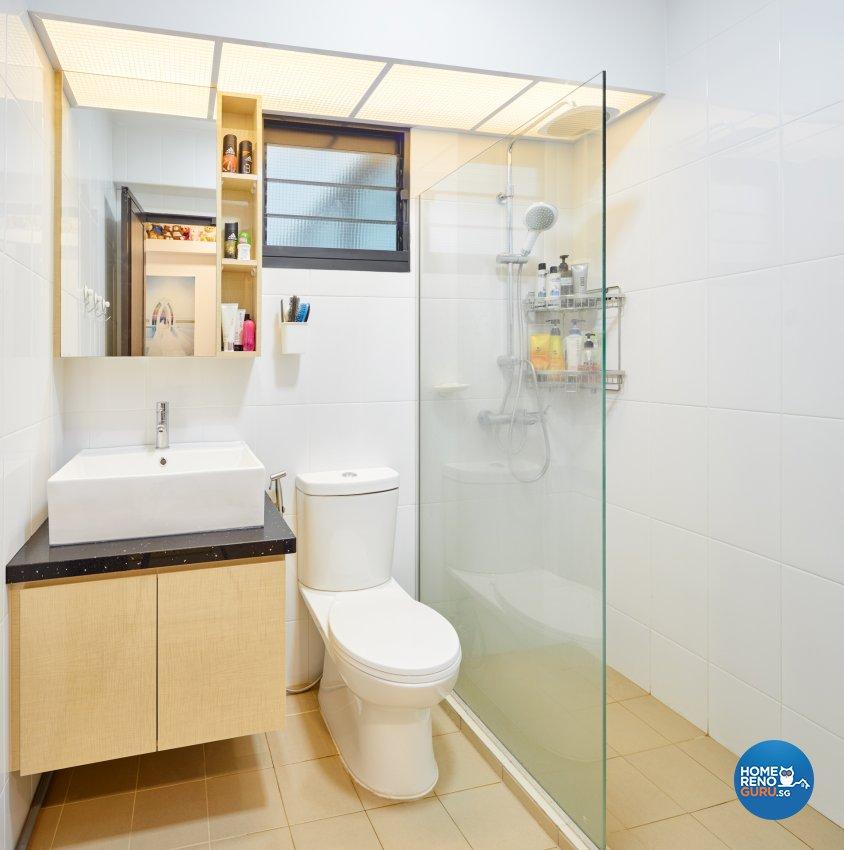 Contemporary, Scandinavian Design - Bathroom - HDB 4 Room - Design by Absolook Interior Design Pte Ltd
