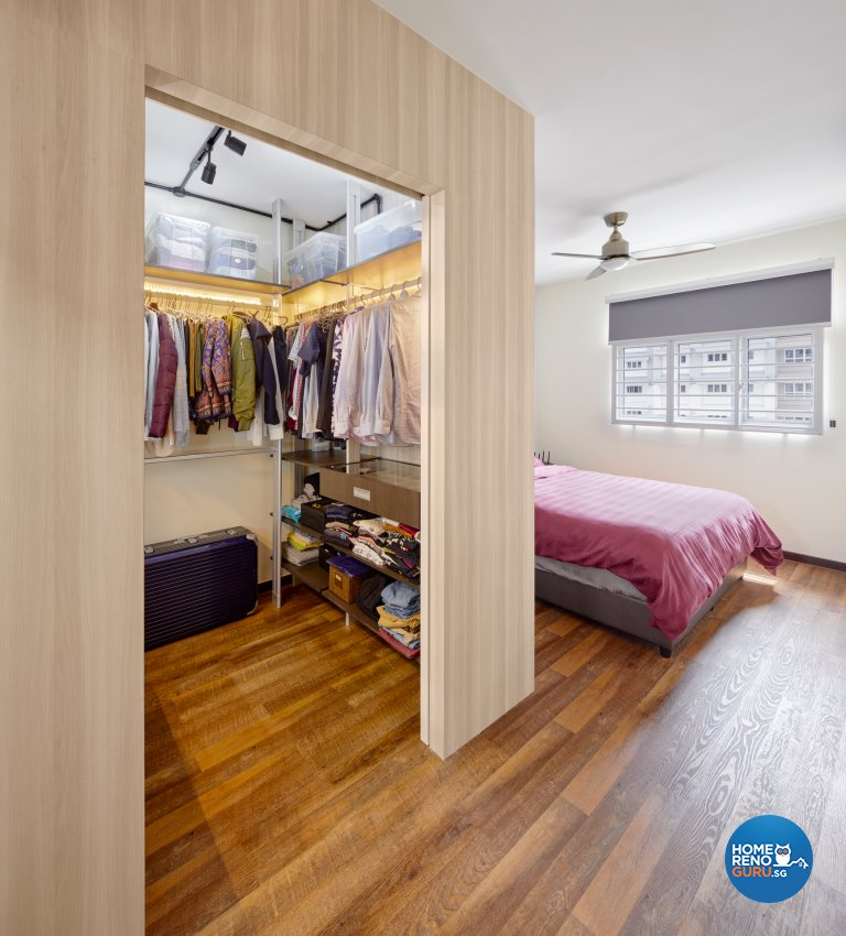 Industrial Design - Bedroom - HDB 5 Room - Design by Absolook Interior Design Pte Ltd