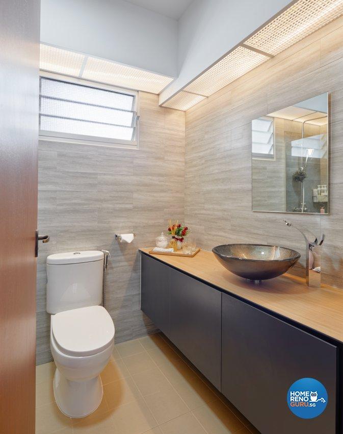 Industrial Design - Bathroom - HDB 5 Room - Design by Absolook Interior Design Pte Ltd
