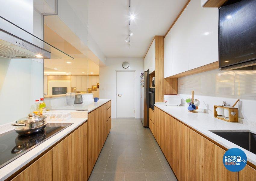 Scandinavian Design - Kitchen - HDB 5 Room - Design by Absolook Interior Design Pte Ltd