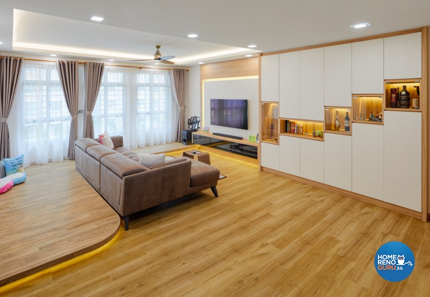 Scandinavian Design - Living Room - HDB 5 Room - Design by Absolook Interior Design Pte Ltd