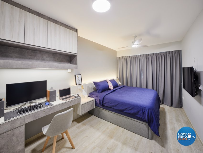 Scandinavian Design - Bedroom - HDB 5 Room - Design by Absolook Interior Design Pte Ltd