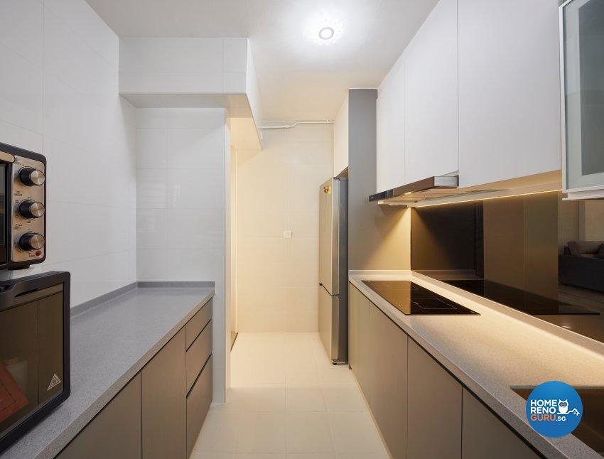 Contemporary Design - Kitchen - HDB 3 Room - Design by Absolook Interior Design Pte Ltd