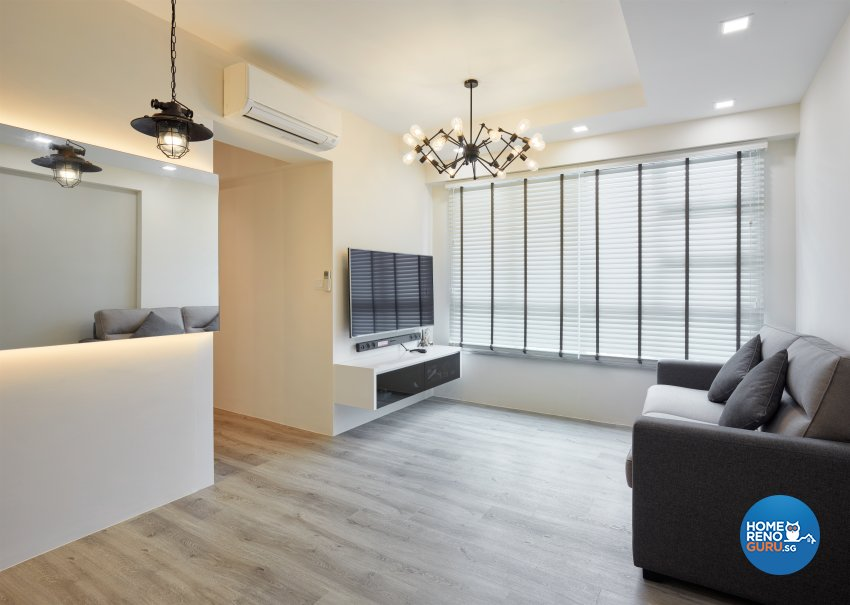 Contemporary Design - Living Room - HDB 3 Room - Design by Absolook Interior Design Pte Ltd