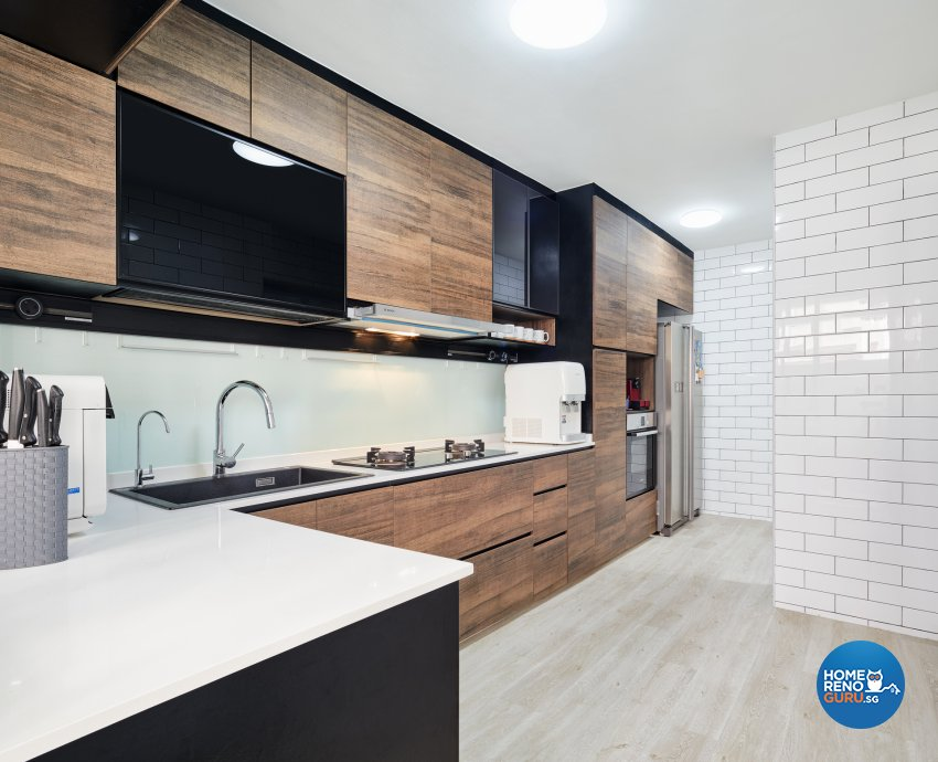 Scandinavian Design - Kitchen - HDB Executive Apartment - Design by Absolook Interior Design Pte Ltd